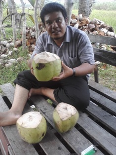 Aku dan kelapa muda jatahku